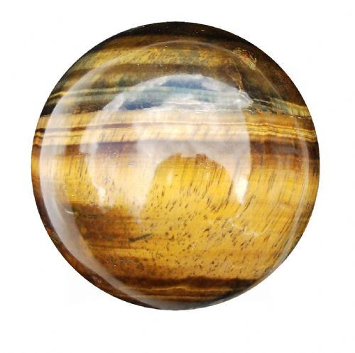 Tiger Eye Fortune Telling Crystal Ball Gemstone Sphere for Meditation 63mm 360g (TE12)